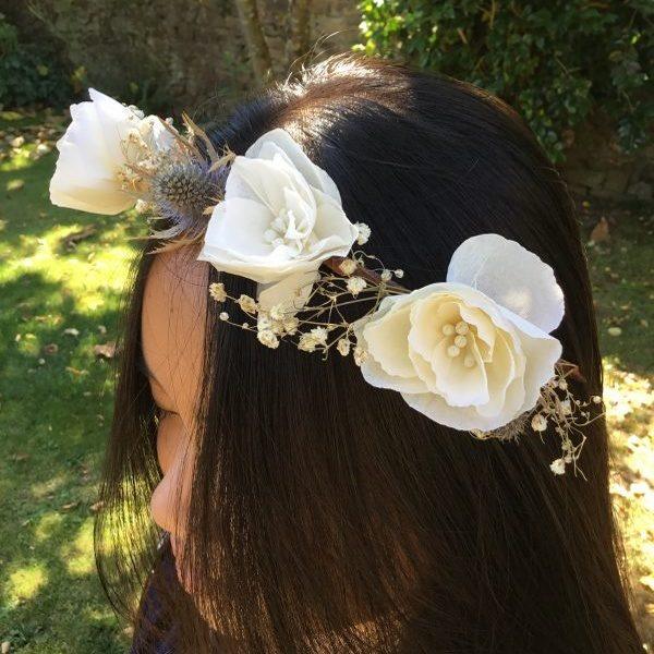 couronne fleurs de papier agnès