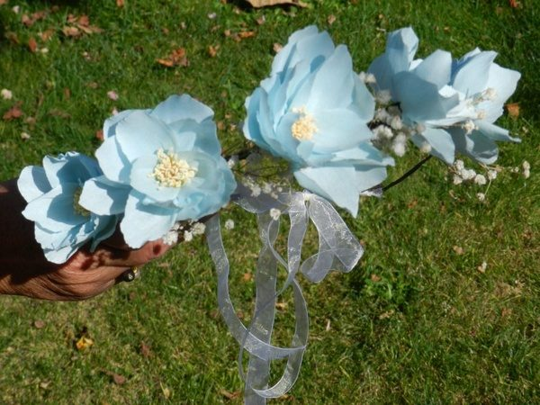 couronne fleurs en papier Julia